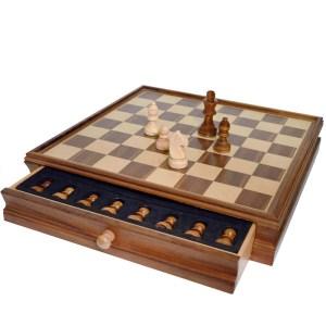 EDE854034-Σκάκι, Ντάμα Καρυδιάς Deluxe SuperGifts 804536 | Online 4U Shop