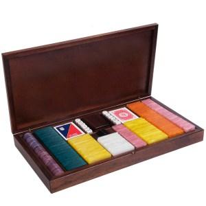 EDE905016-Ξύλινη κασετίνα καρυδιάs με 485 μάρκες Radica 307430   Online 4U Shop