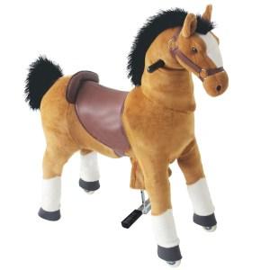 EDE207017-Παιδικό κουνιστό αλογάκι ScorpionWheels καφέ-50420071 | Online4uShop