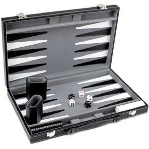 EDE900064-Τάβλι βαλίτσα δερματίνης Grigia SuperGifts 800751 | Online 4U Shop