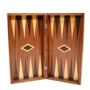 Τάβλι καρυδιά Prestige 48 x 48cm Supergifts 501508 | Οnline4U Shop