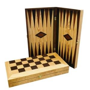 EDE900082-Ξύλινο τάβλι & σκάκι ελιάς 48X26 SuperGifts 800500 | Online 4U Shop