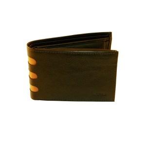 EDA757019-01 Πορτοφόλι δερμάτινο ανδρικό Καφέ με Ταμπά Marvel 46990302