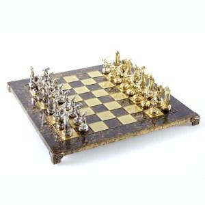EDE854003-01 Χειροποίητο μεταλλικό σετ σκακιού με δισκοβόλο