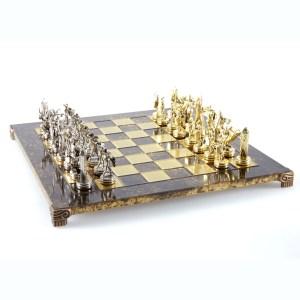 EDE854005-01 Χειροποίητο μεταλλικό σετ σκακιού της Ελληνικής Μυθολογίας