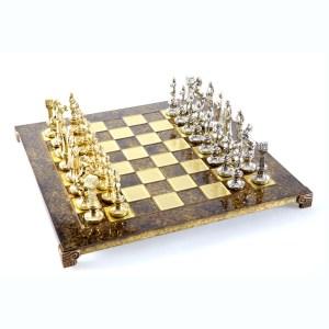 EDE854008-01 Χειροποίητο μεταλλικό σετ σκακιού της αναγέννησης