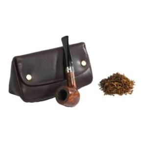 EDK006024 Θήκη καπνού πίπας δερμάτινη μαύρη Peterson PT-149