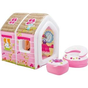 Φουσκωτό σπίτι Princess Play House με σαλονάκι INTEX 48635 | Online4U