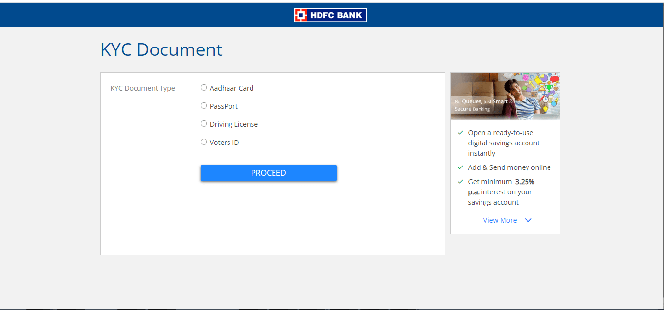 hdfc savings account online