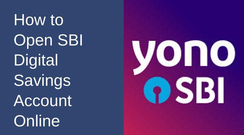 how to open SBI digital savings account