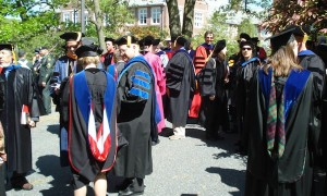 Various doctoral regalia shown during Worcester Polytechnic Institute Graduation May 2008 From Wikimedia Commons; Author: Alex Zozulya