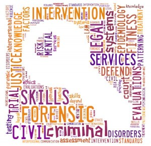 forensic psychology word cloud