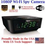 1080P-HD-WIFI-AMFM-Alarm-Clock-Radio-Spy-Camera-Wireless-IP-P2P-Covert-Hidden-Nanny-Camera-Spy-Gadget-with-Free-Mobile-App-No-Monthly-Fee-32GB-WI-FI-MODEL-0-0