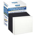 2-Premium-True-HEPA-Filter-Including-8-Carbon-Pre-Filters-compatible-with-AP-1512HH-CW-Air-Purifier-2-Year-Value-Pack-by-VEVA-Advanced-Filters-0