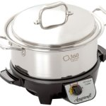 360-Cookware-Gourmet-Slow-Cooker-and-Stainless-Steel-Stock-Pot-with-Cover-4-Quart-0