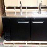 60-Dual-Tap-Keg-Beer-Can-Bottle-Dispenser-Refrigerator-Stainless-Steel-Top-UDD-24-60-Kegerator-Fridge-0