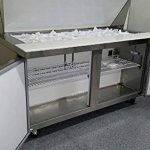 605-2-Door-Commercial-Refrigerated-Stainless-Steel-Mega-Top-Salad-Sandwich-Prep-Station-Table-Cooler-Fridge-15-Cubic-Feet-24-Pans-and-Cutting-Board-INCLUDED-SCLM2-60-for-Restaurant-0-1