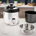 All-Clad-CZ720051-Electric-Pressure-Cooker-with-Dishwasher-safe-Nonstick-Ceramic-Pot-and-8-pre-set-cooking-modes-6-Quart-Silver-0-0