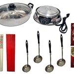 Asian-Electric-Hot-Pot-Starter-Kit-Starter-Kit-for-Asian-Hot-Pot-Mongolian-Hot-Pot-Japanese-Shabu-Shabu-Includes-Electric-Hot-Pot-Strainers-Chopsticks-Seasoning-Packets-0