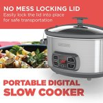 BLACKDECKER-SCD1007-7-Quart-Programmable-Slow-Cooker-with-Digital-Timer-Portable-with-Locking-Lid-Stainless-Steel-0-1
