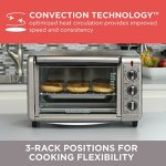 BLACKDECKER-TO3230SBD-6-Slice-Convection-Countertop-Toaster-Oven-Includes-Bake-Pan-Broil-Rack-Toasting-Rack-Stainless-Steel-Convection-Toaster-Oven-0-2
