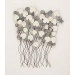 Benzara-Enticing-Gray-White-Metal-Wall-Decor-0