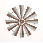 Benzara-Rustic-Metal-Farm-Country-Windmill-Wall-Art-Barn-Decor-0
