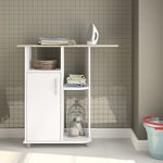 Boahaus-Ironing-Cart-White-4-casters-wheels-1-closed-compartment-0-0