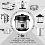 COSORI-7-in-1-Multifunctional-Programmable-Pressure-Cooker-Rice-Cooker-Slow-Cooker-with-Glass-Lid-Extra-Sealing-Ring-and-Recipe-Book-6-Quart1000W-0-1
