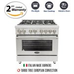 Cosmo-COS-Freestanding-Professional-Style-Dual-Fuel-Range-with-39-cu-ft-Electric-Convection-Oven-Italian-Made-Burners-Cast-Iron-Grates-in-Stainless-Steel-0