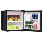 Costway-Compact-Stainless-Steel-Refrigerator-and-Freezer-With-Single-Door-Cooler-Fridge17-Cubic-FeetUnitBlack-0-0