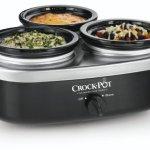 Crock-Pot-16-Ounce-Little-Triple-Dipper-Slow-Cooker-Silver-and-Black-SCRMTD307-DK-0-0