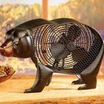 DecoBREEZE-Black-Bear-Figurine-Fan-Two-Speed-Electric-Circulating-Fan-0