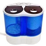 Giantex-Portable-Mini-Washing-Machine-Gravity-Drain-Compact-Twin-Tub-77lb-Washer-Spin-Dryer-Furni-0-0