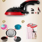 HAAN-HI-600-Electric-Steam-Handy-Iron-Swivel-Handle-with-Brush-0-2