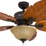 Honeywell-Sabal-Palm-52-Inch-Tropical-Ceiling-Fan-with-Sunset-Bowl-Light-Five-Hand-Carved-Wooden-Leaf-Blades-LindenwoodBasswood-Bronze-0-1