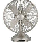 Hunter-90400-12-Metal-Fan-Brushed-Nickel-Finish-Table-Fan-Portable-Fan-0