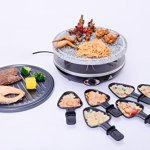 King-of-Raclette-2-IN-1-ROUND-Party-BBQ-Grill-with-Temperature-Control-Safety-Indicator-Electric-Nonstick-BBQ-Indoor-Grill-Outdoor-Grills-for-up-to-6-People-0-2