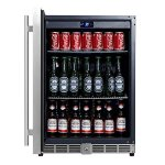 KingsBottle-160-Can-Beverage-Cooler-Stainless-Steel-with-Glass-Door-0-1
