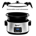 Magic-Mill-85-Quart-Slow-Cooker-Digital-Programmable-Crock-Pot-20-hour-Timer-3-Cooking-Settings-Locking-Lid-for-Easy-Transport-Dishwasher-Safe-0-2