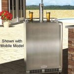 Marvel-MO24BSS2LS-24-Built-in-Single-Tap-Beer-Dispenser-with-Half-Barrel-Capacity-2-Stow-on-Board-Refrigerator-Convertible-Shelves-Standard-Door-Lock-5-lb-CO2-Tank-and-Lo-Boy-Coupler-Left-0