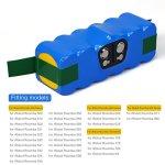Melasta-Higher-Power-6400mAh-148V-Li-ion-Replacement-Battery-Made-of-Panasonic-Cells-for-iRobot-Roomba-500-600-700-800-Series-510-530-531-532-550-585-595-561-600-620-630-650-760-770-780-870-880-R3-0-0