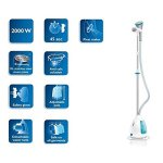 PHILIPS-GC534-CLEAR-TOUCH-GARMENT-STEAMER-STAND-STEAM-IRON-2000WHangLock-40GMIN-220V-0-1