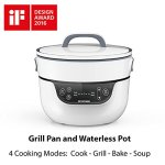 Tatung-TSB-3016EA-Fusion-Cooker-Grill-Pan-Waterless-Pot-4-Cooking-Modes-Soup-Bake-Waterless-Cook-9-Grill-Pan-28-Qt-Waterless-pot-White-0