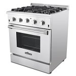 Thor-Kitchen-2-Piece-Kitchen-Package-with-30-Pro-Style-4-Burner-Stainless-Steel-Gas-Range-and-30-Under-Cabinet-Range-Hood-Stainless-Steel-0-1