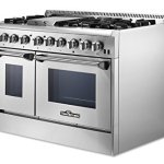 Thorkitchen-HRD4803U-48-Freestanding-Professional-Style-Dual-Fuel-Range-with-42-and-25-cu-ft-Double-Oven-6-Burners-Griddle-Convection-Fan-Stainless-Steel-0-0