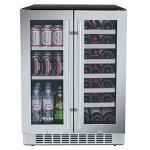 Titan-24-Inch-Built-In-French-Door-Wine-and-Beverage-Refrigerator-0