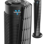 Vornado-Compact-29-Tower-Air-Circulator-with-All-NEW-Signature-V-Flow-Technology-3-Speed-Settings-and-Energy-LED-Saving-Timer-Remote-Control-Included-0