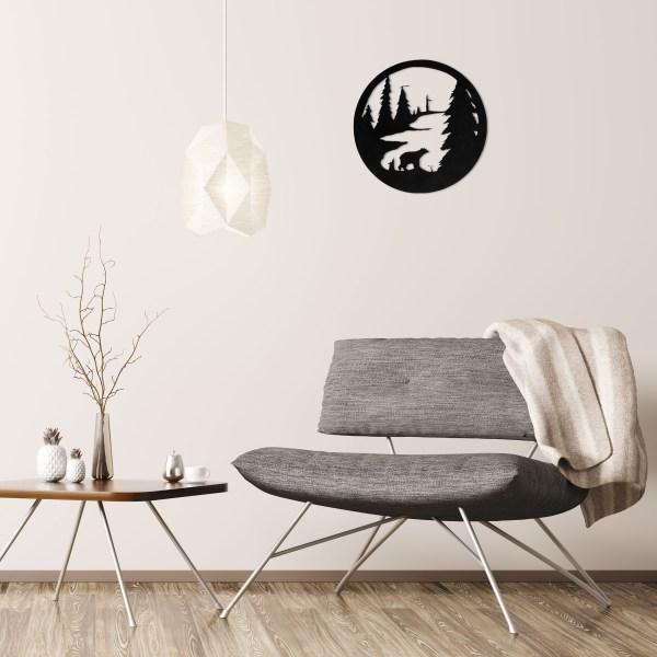 black-bear-circle-over-gray-chair