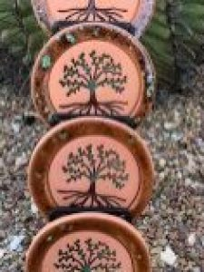 Tree of life, Set of 4, Absorbent  Coasters